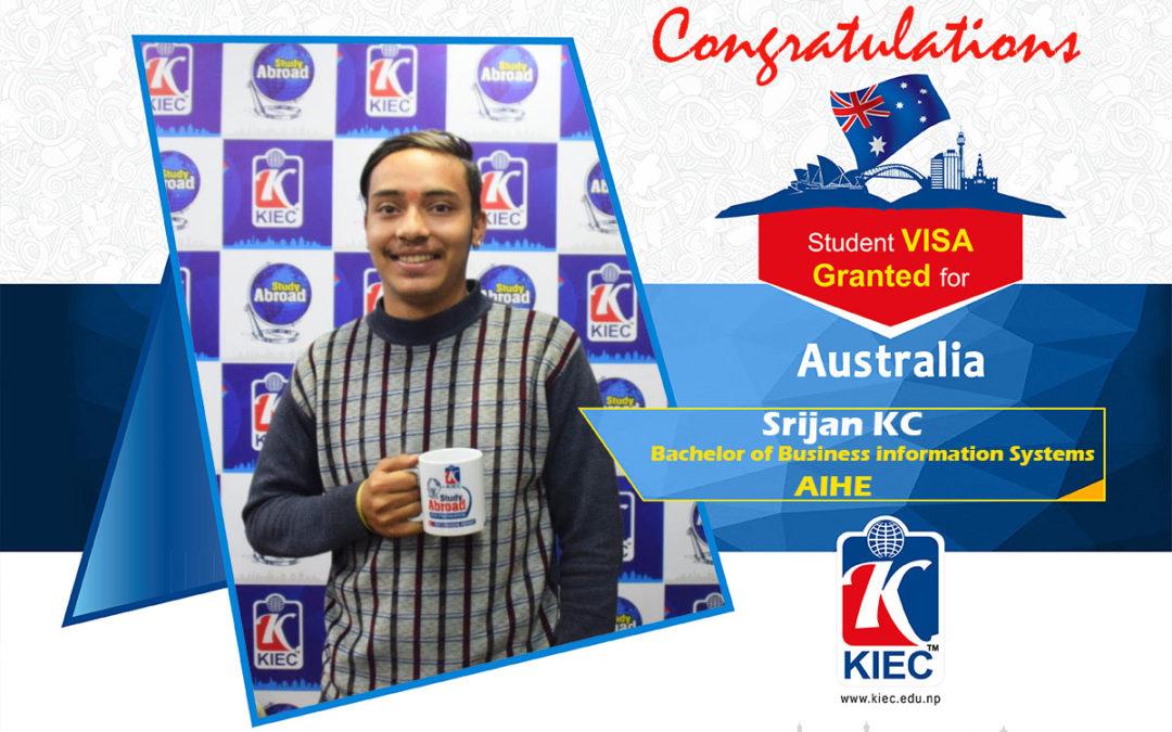 Srijan KC | Australia Study Visa Granted